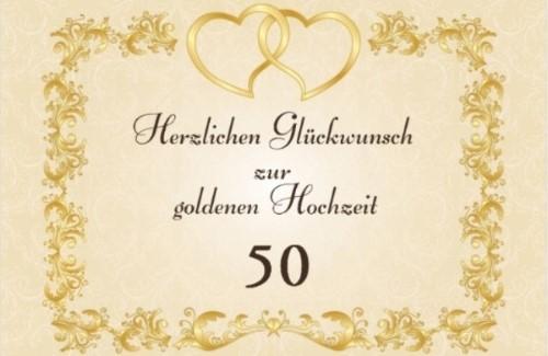 Sprüche und Glückwünsche zur Goldenen Hochzeit